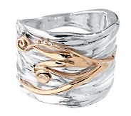 Hagit Gorali Sterling & 14K Gold Textured Ring - J314156