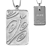 Sterling Life Tag Pendant with 18 Chain by Steven Lavaggi - J314856