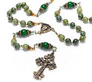 Connemara Marble Bronzetone Antiqued Rosary - J328656