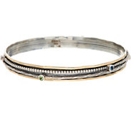 Or Paz Sterling Silver Gemstone Accent Spinner Bangle - J349056