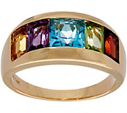 Channel Set Multi-Gemstone Band Ring 14K Gold 2.85 cttw - J349956