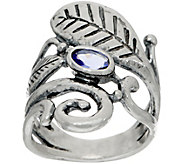 Or Paz Sterling Gemstone & Leaf Ring - J351656
