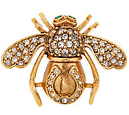 Joan Rivers Lucky Horseshoe Bee Pin - J353456