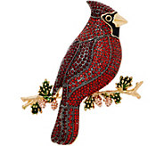 Joan Rivers Jeweled Cardinal Pin - J355056