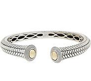 JAI Sterling Silver & 14K Gold Basketweave Cuff - J355656