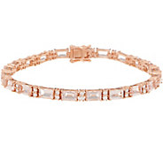Morganite and Diamond 7-1/4 Tennis Bracelet, 8.70 cttw, 14K - J356656