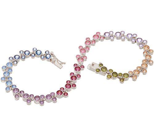 As Is Mickey's 90th Birthday Diamonique Multi Color Bracelet