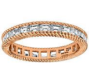 Judith Ripka 14K Clad 1.30 cttw Baguette Eternity Band Ring - J382456