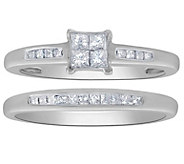 Affinity 14K Gold 2/5 cttw Diamond Channel RingSet - J383556