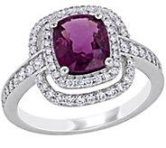 14K 1.80 cttw Rhodolite Garnet and 1/2 cttw Diamond Ring - J392356