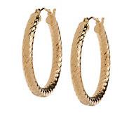 EternaGold 1-1/4 Chevron Pattern Hoop Earrings14K Gold - J393456