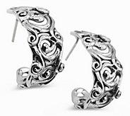 Hagit Sterling Silver Swirl Hoop Earrings - J484556