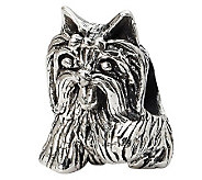 Prerogatives Sterling Yorkshire Terrier Bead - J299557
