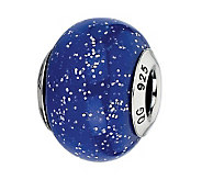 Prerogatives Purple with Sparkles Italian Murano Bead - J300157