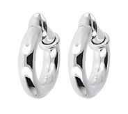 UltraFine Silver 3/4 Polished Clip-On Hoop Earrings - J339957