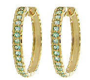 0.75 cttw Paraiba Tourmaline Hoop Earrings 14KGold - J341757