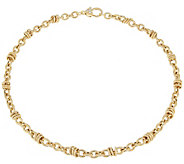 Judith Ripka 18 Verona Circle Link 14K Clad Necklace 29.5g - J344157