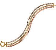 Imperial Gold 6-3/4 Wheat Tri-Color Bracelet, 14K Gold, 14.7g - J354857