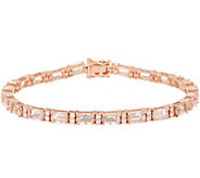 Morganite and Diamond 8 Tennis Bracelet, 10.20 cttw, 14K - J356657