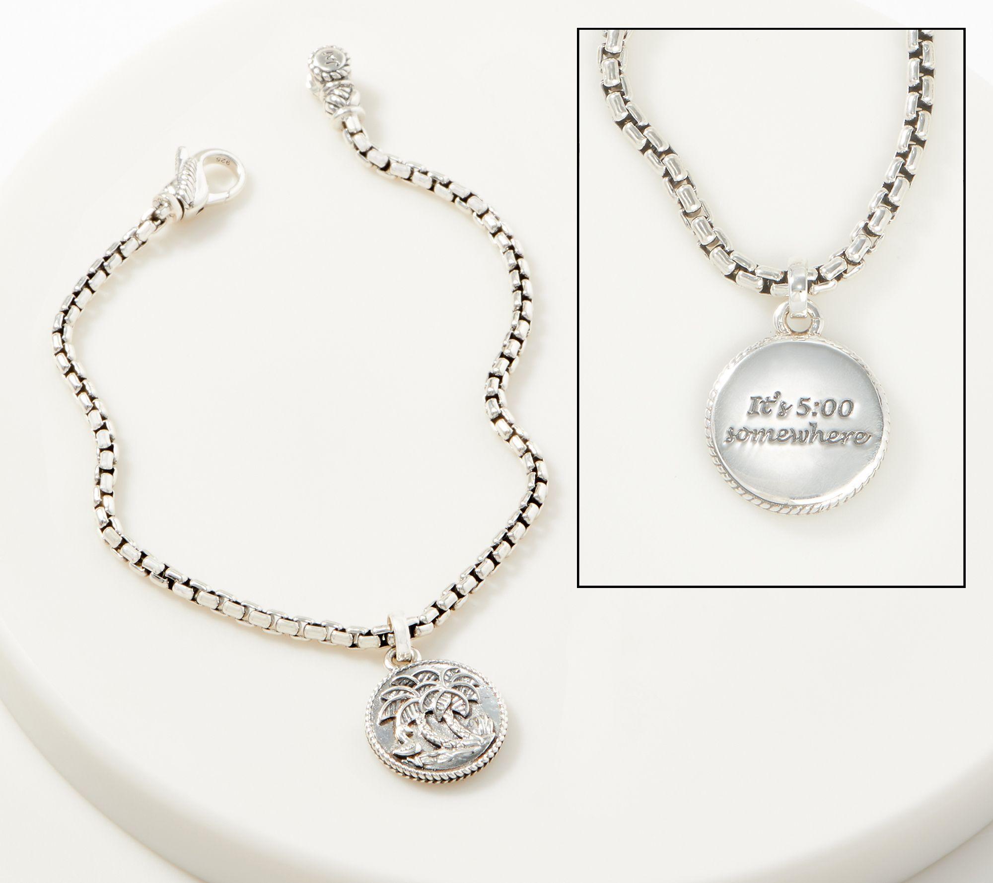 1b614e798 JAI Sterling Silver 2.7mm Box Chain Charm Bracelet - Page 1 — QVC.com