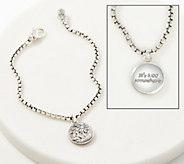 JAI Sterling Silver 2.7mm Box Chain Charm Bracelet - J357757