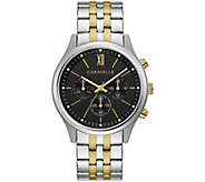 Caravelle Mens Chronograph Two-Tone Bracelet Watch - J384657