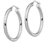 Italian Gold 1-1/4 Polished Round Hoop Earrings, 14K Gold - J385757