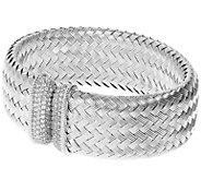 Judith Ripka Verona Sterling Silver Braided Cuff - J387557