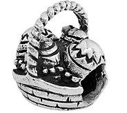 Prerogatives Sterling Easter Basket Bead - J110358