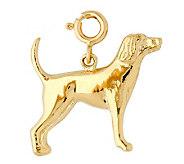 14K Yellow Gold Labrador Dog Charm - J298458