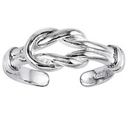 Sterling Polished Love Knot Toe Ring - J313758