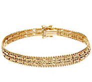 Imperial Gold 8 Mirror Bar Bracelet, 14K, 18.5g - J348558