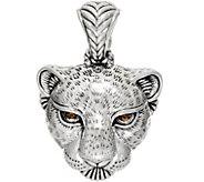 JAI Sterling Silver Leopard Head Enhancer, 13.21g - J350258