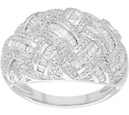 As Is Pave Diamond Basketweave Ring, 14K,3/4 cttw, Affinity - J351858