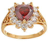 Grace Kelly Collection Simulated Diamond & Ruby Heart Ring - J353158