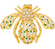 Joan Rivers Gardenia Bouquet Bee Pin - J353458