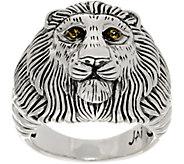 JAI Sterling Silver & Gemstone Lion Head Ring - J355658