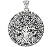 JAI Sterling Silver Round Tree of Life Enhancer 41.8g - J357758