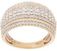 Affinity Diamond 14K Gold Double Band Accent Ring, 1.00 cttw - J359558