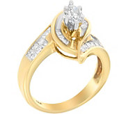 Round & Baguette Ring, 14K, 1.25 cttw, by Affinity - J376858