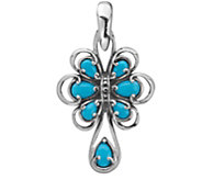 Carolyn Pollack Sterling Turquoise Enhancer - J378358