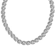 Italian Silver Woven Link Necklace, 42.0g - J383158