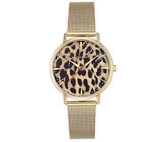 Vince Camuto Women's Leopard Goldtone Mesh Bracelet