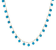 Italian Gold Turquoise Bead 18 Necklace, 18K - J392558