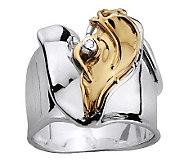 Hagit Gorali Diamond Accent Heart Ring, Sterling/14K Gold - J305459