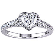 Diamond Heart Halo Ring, 1cttw, 14K White Gold,by Affinity - J339459