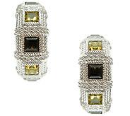 Judith Ripka Sterling Quartz 1 Hoop Earrings - J340859