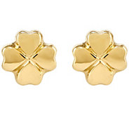 Four-Leaf Clover Post Earrings, 14K Yellow Gold - J341959