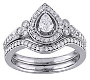 Pear & Round Diamond 2-Piece Ring Set, 5/8 cttw, by Affinity - J343759