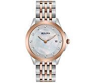 Bulova Ladies Diamond Accent Two-Tone Watch - J343959